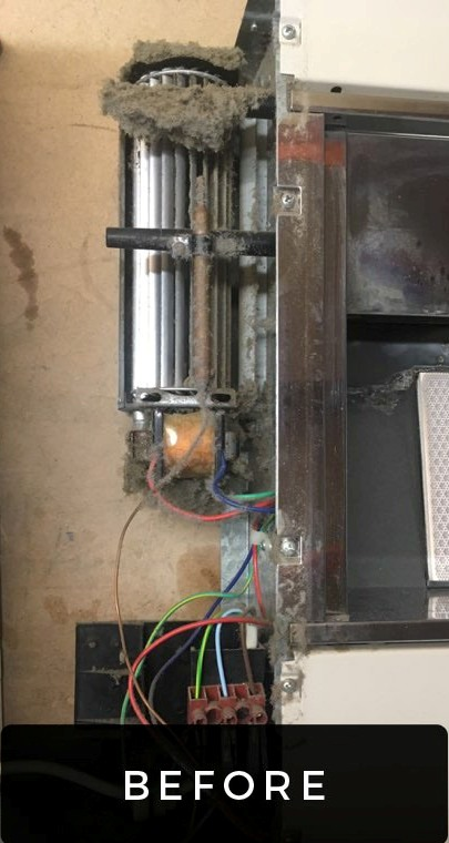 gas heater before service