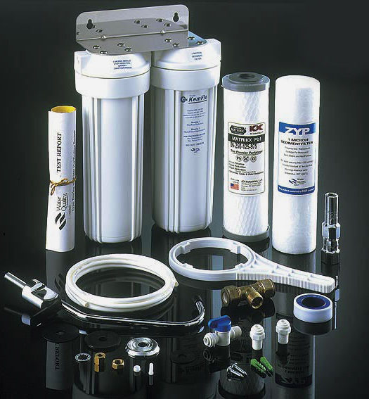 twin cartridge water filter